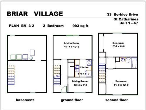 Townhouses for rent   33   44 Berkley Drive  St  Catharines  ON. 2 Bedroom Townhouses for Rent at 33   44 Berkley Drive  St