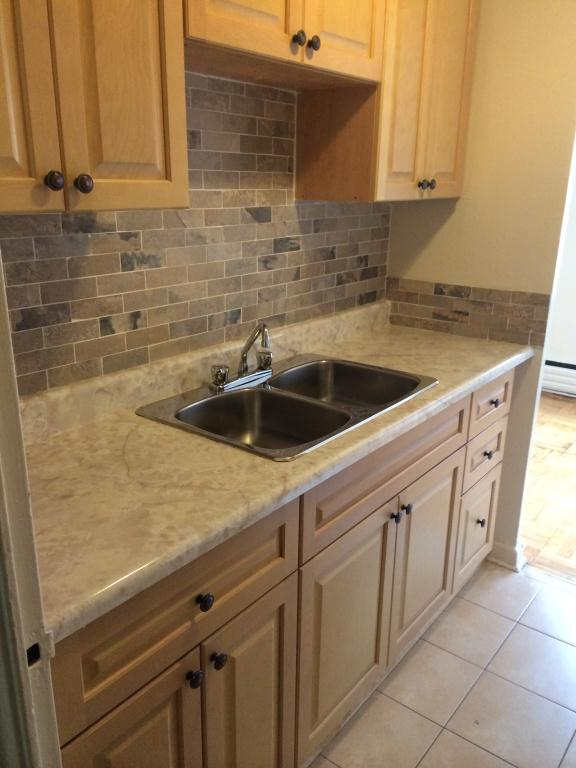 bathroom and kitchen flooring 91 cosburn avenue toronto 1 bedroom apartment for rent 15504