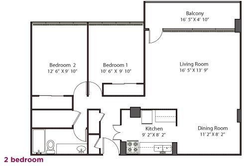 two bedroom mc at bank floorplan bath east apartments cleveland apartment in flats rent for flb