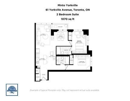 2 bedroom apartments for rent at 61 yorkville avenue for Apartment floor plans toronto